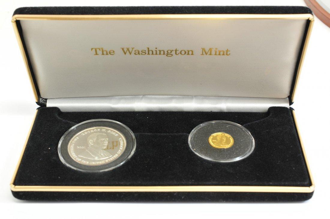 Washington Mint 1/10 OZ Gold coin & 1 OZ Silver