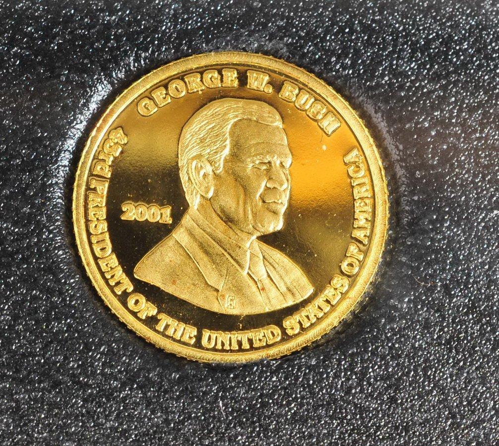 Washington Mint 1/10 OZ Gold coin & 1 OZ Silver - 2