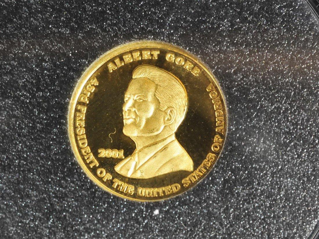 Washington Mint 1/10 OZ Gold coin & 1 OZ Silver - 3