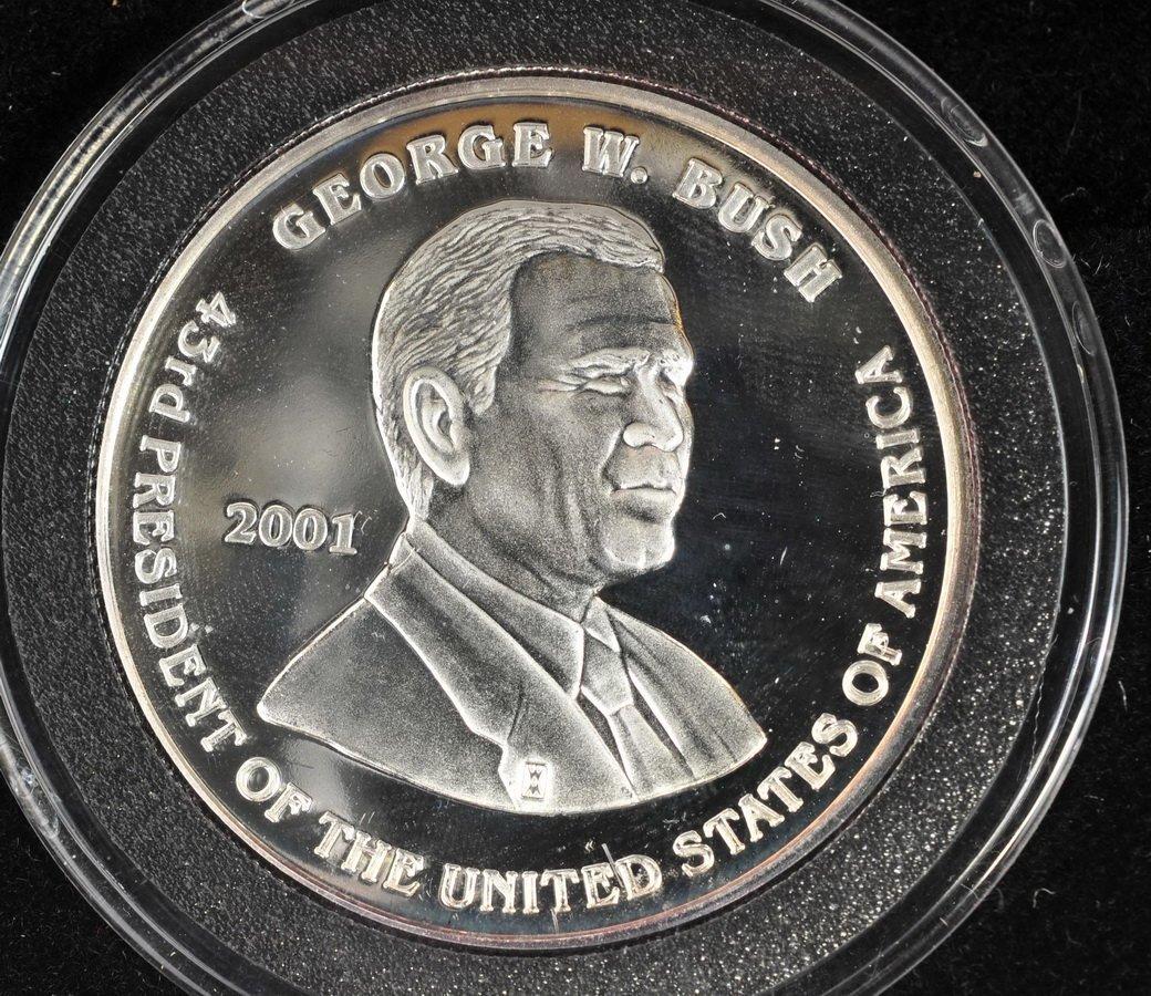 Washington Mint 1/10 OZ Gold coin & 1 OZ Silver - 4
