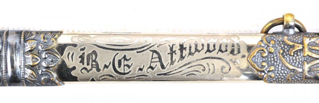 Antique Ames Mason Presentation Sword - 4
