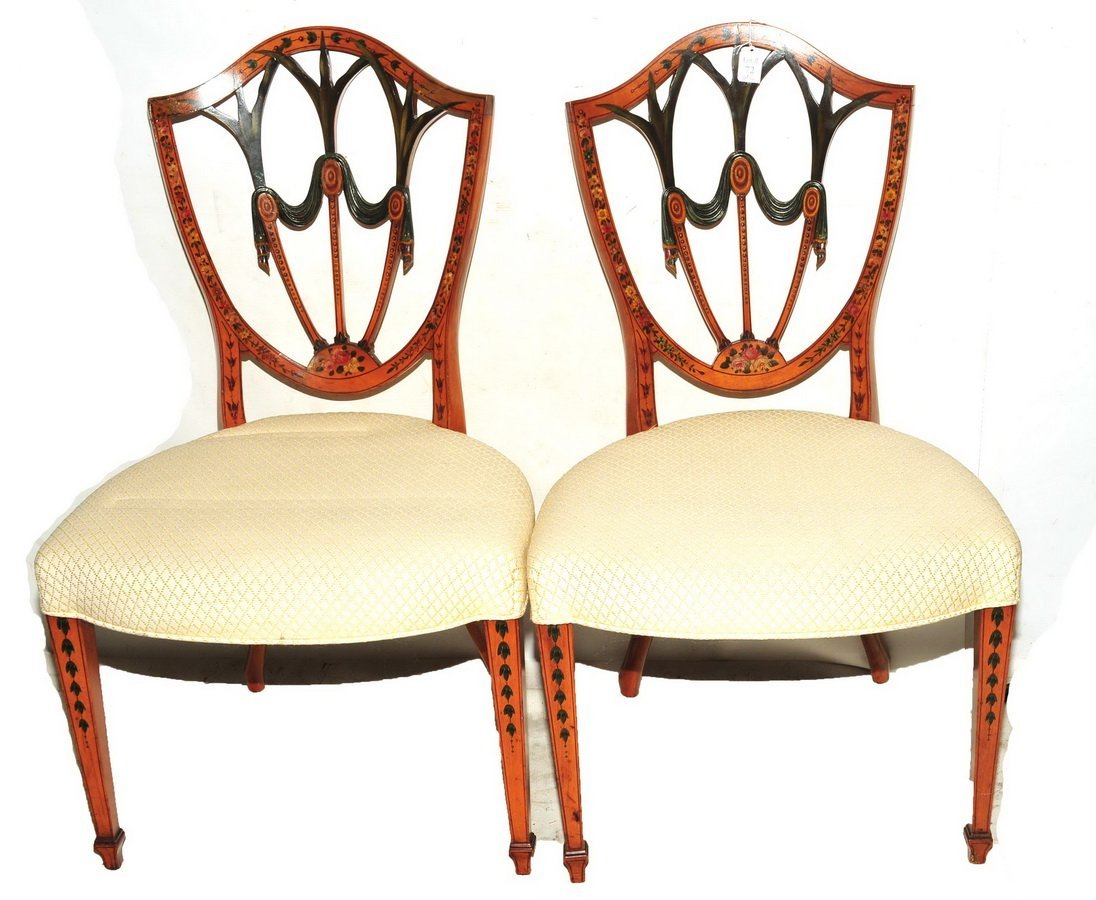 Pair of Antique Sheraton Side Chairs