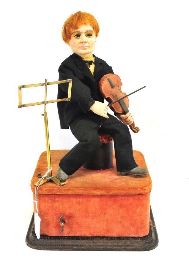 Antique Violin Player Automaton