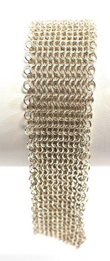 Tiffany & Co. Sterling silver Ladies Mesh Bracelet