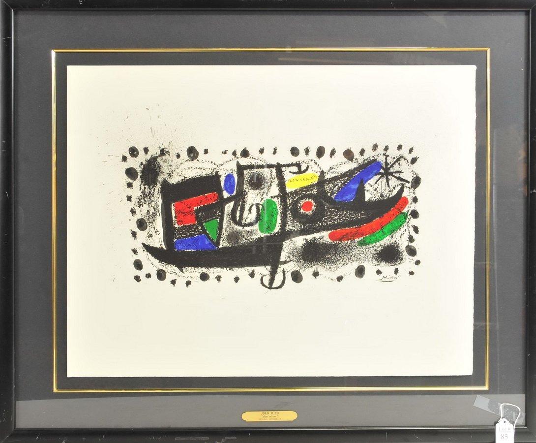 """Joan Miro Lithograph """"Star Scene"""""""