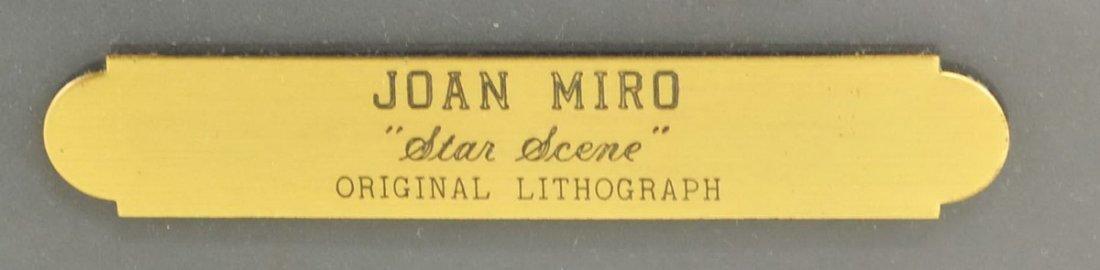 """Joan Miro Lithograph """"Star Scene"""" - 2"""