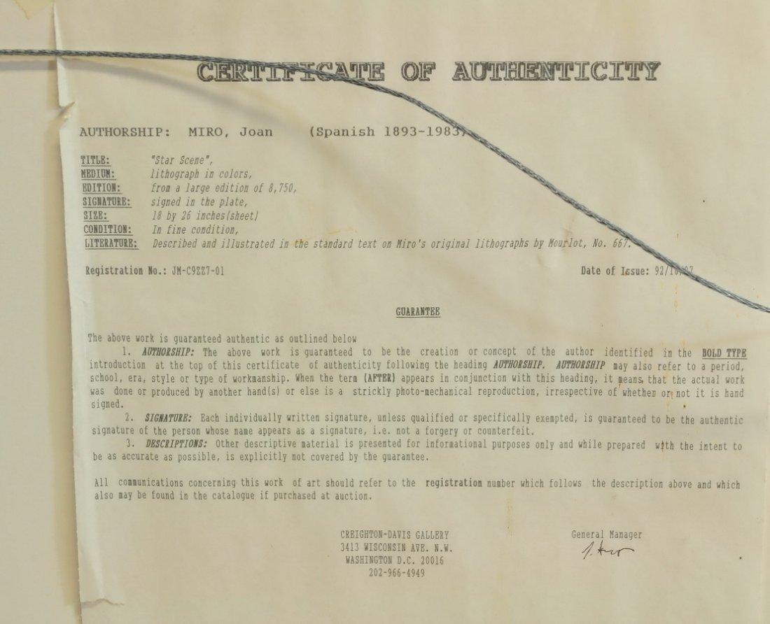 """Joan Miro Lithograph """"Star Scene"""" - 5"""