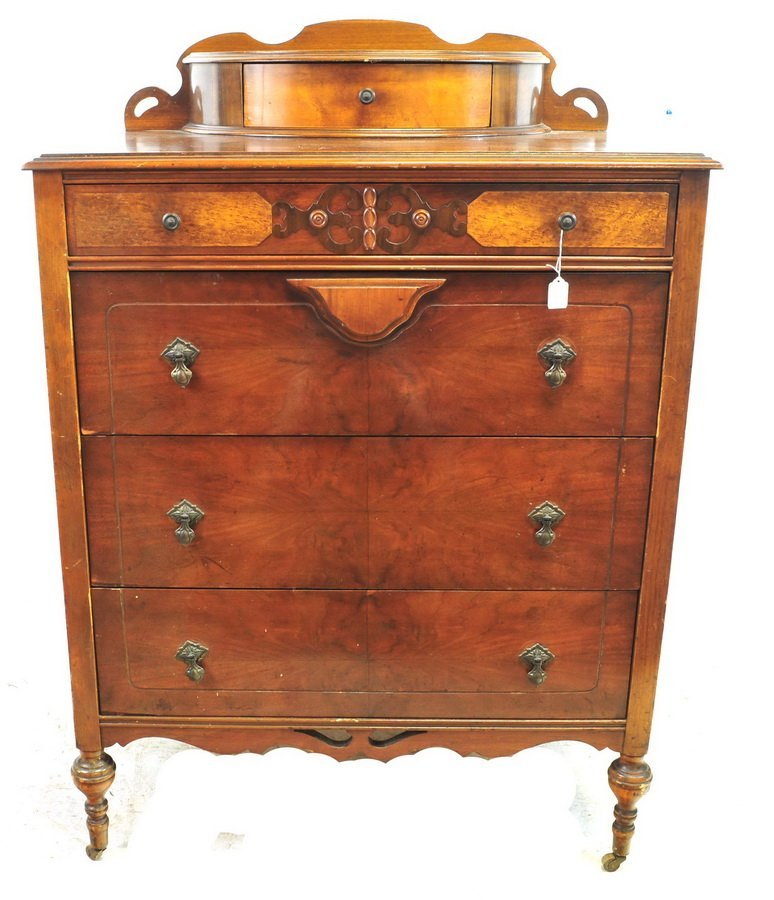 Antique Walnut Chest Two Over Three Drawer