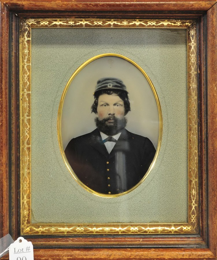 Civil War Full Plate Tintype of a Maine Soldier
