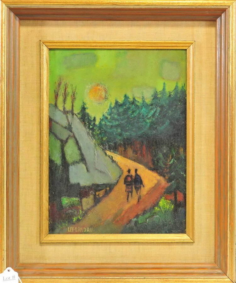 "Oil On Board ""woodland ""Stroll by Lev Landau"