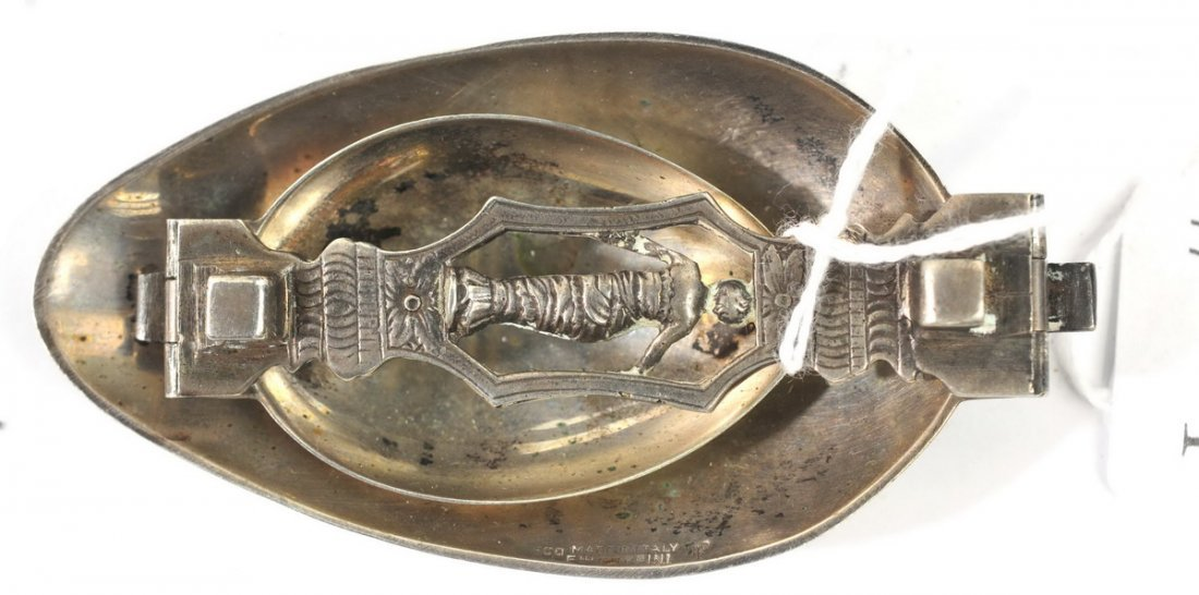 Antique Medicine bottle & folding spoon - 2
