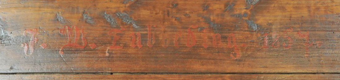 Antique Pine Lift Top Box dated 1857 - 2