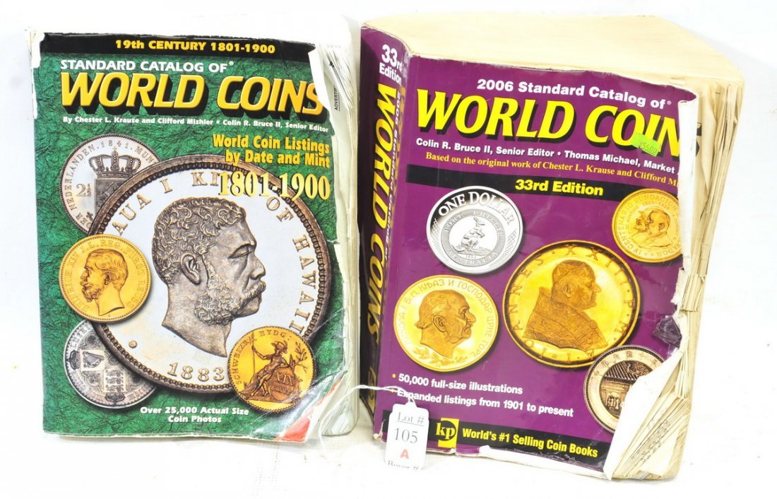 World Coin lot with coins & books