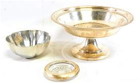 Group of Sterling & Silver Plate Items
