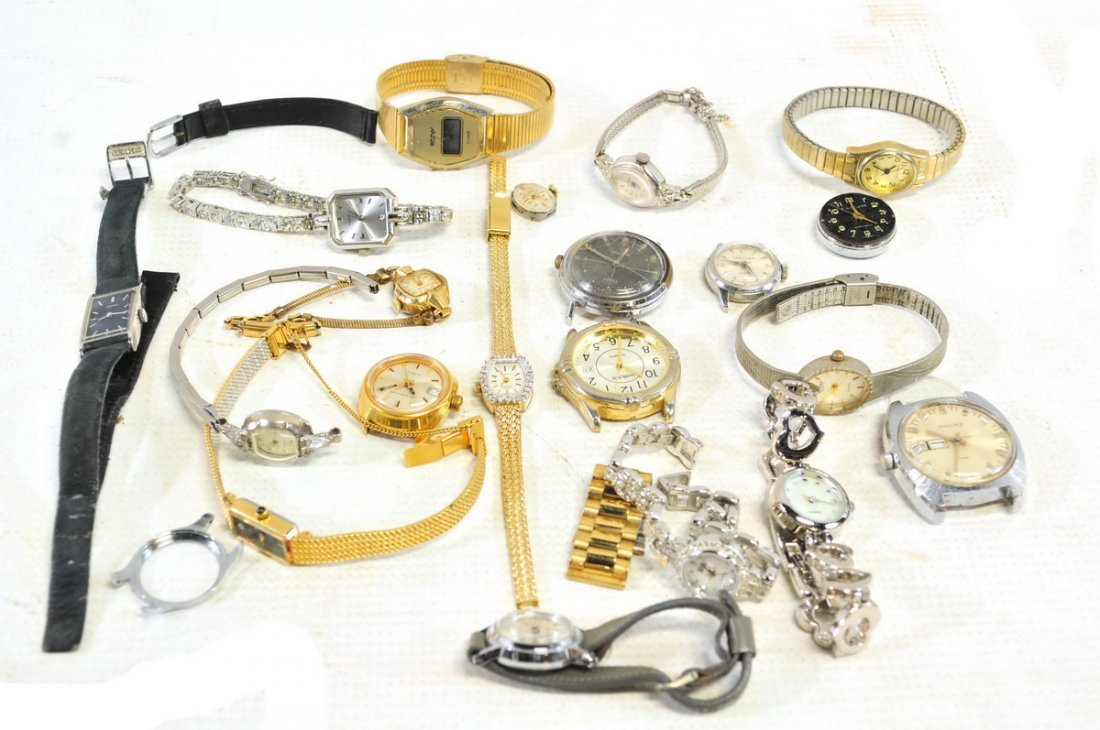 Watch, Pocket watch and clock lot - 4