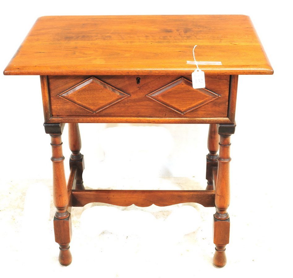 Mahogany Kittinger Stand With Drawer