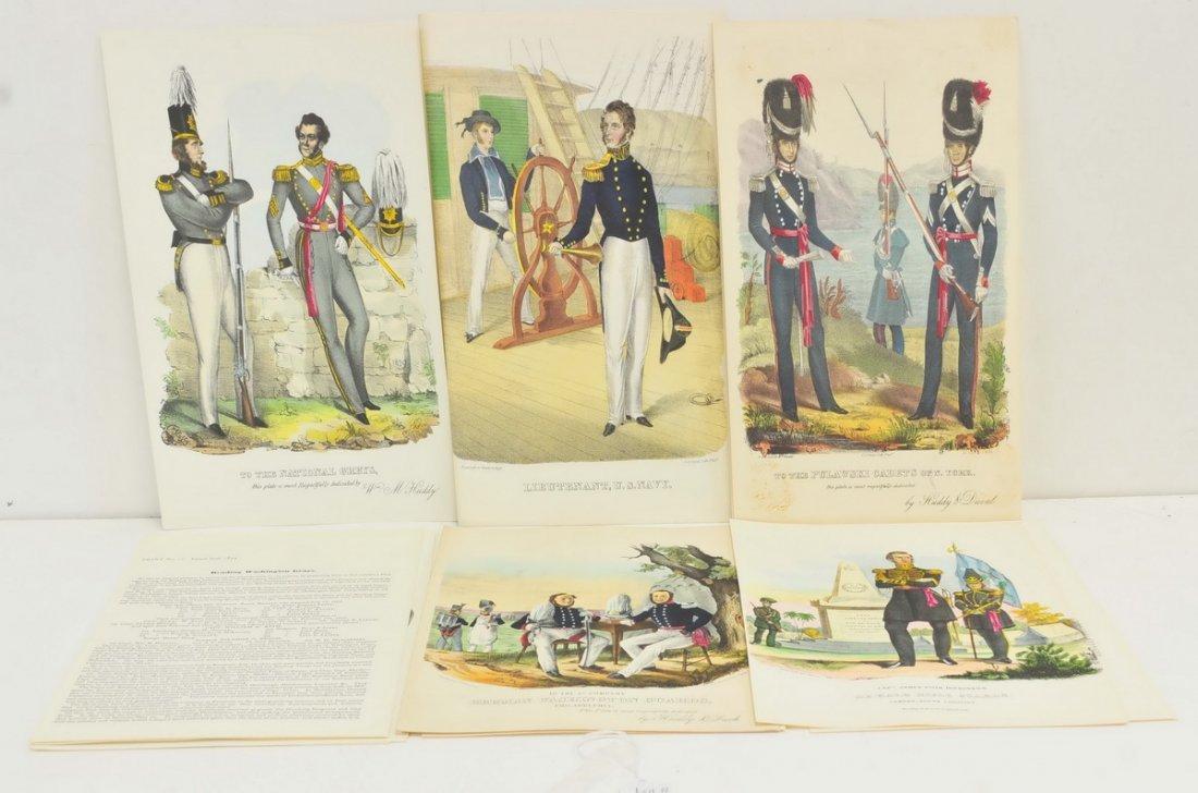 31 Rare 19th Century Military Prints