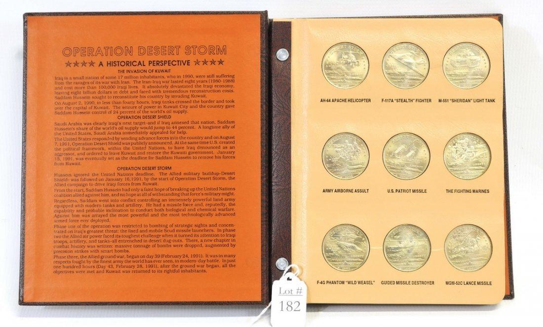 Complete Set of Desert Storm $5 Coins - 2