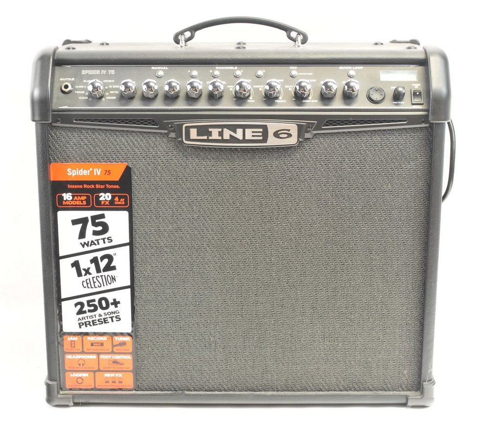 Line 6 75 Watt Guitar Amp with Digitech Pedal