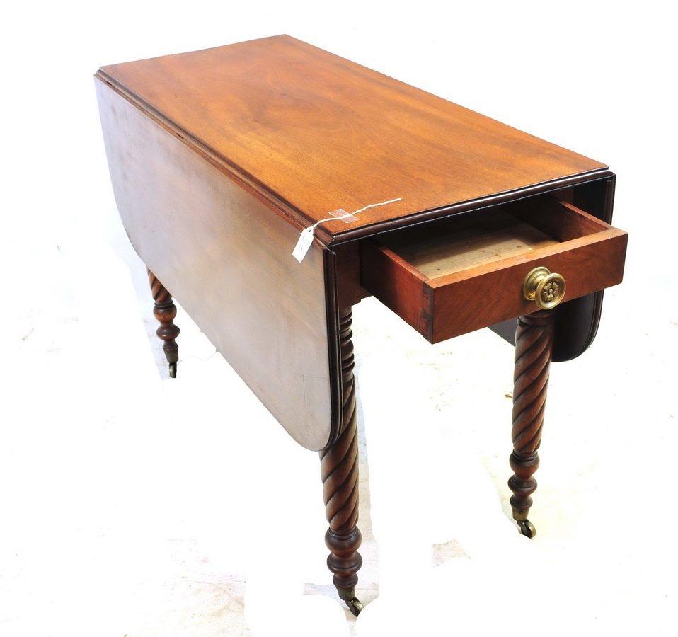 Antique Mahogany Drop Leaf Table - 2