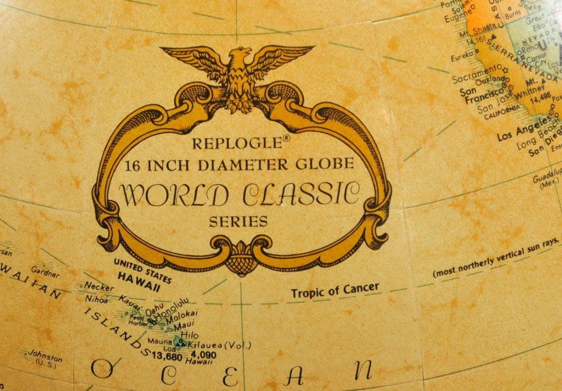 "Vintage Repogle 16"" World Classic Series Globe - 2"