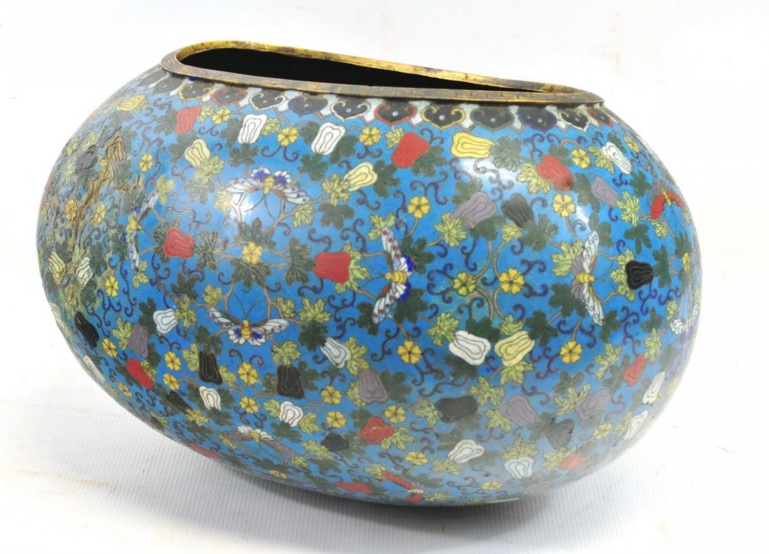 Antique Cloisonné Plant Pot - 3