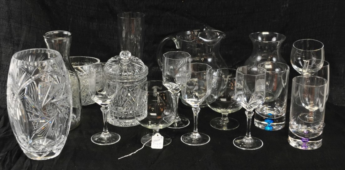 Large clear lot of glassware