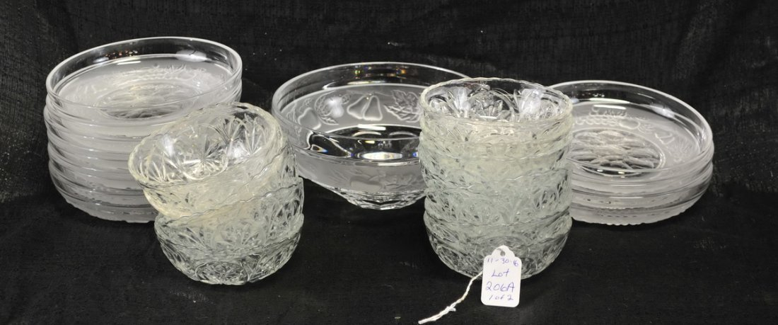 Large clear lot of glassware - 2