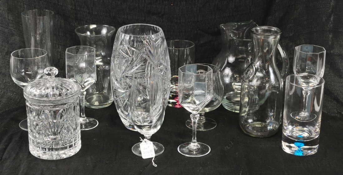 Large clear lot of glassware - 3