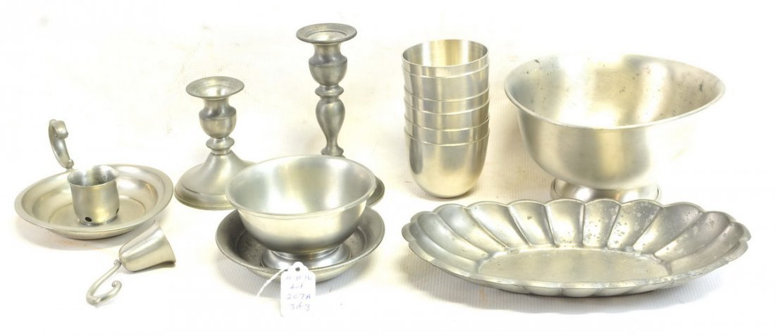 large lot of misc. pewter, over 20 items