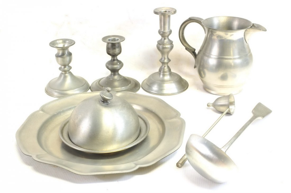 large lot of misc. pewter, over 20 items - 4