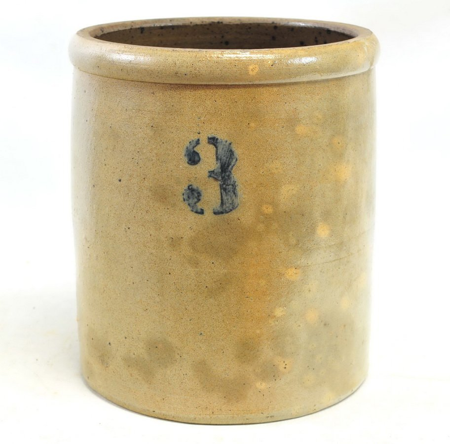 Four Antique Stoneware Crocks
