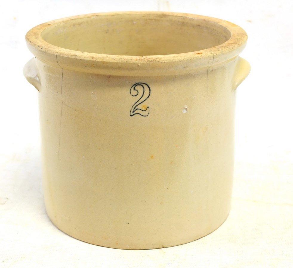Four Antique Stoneware Crocks - 3