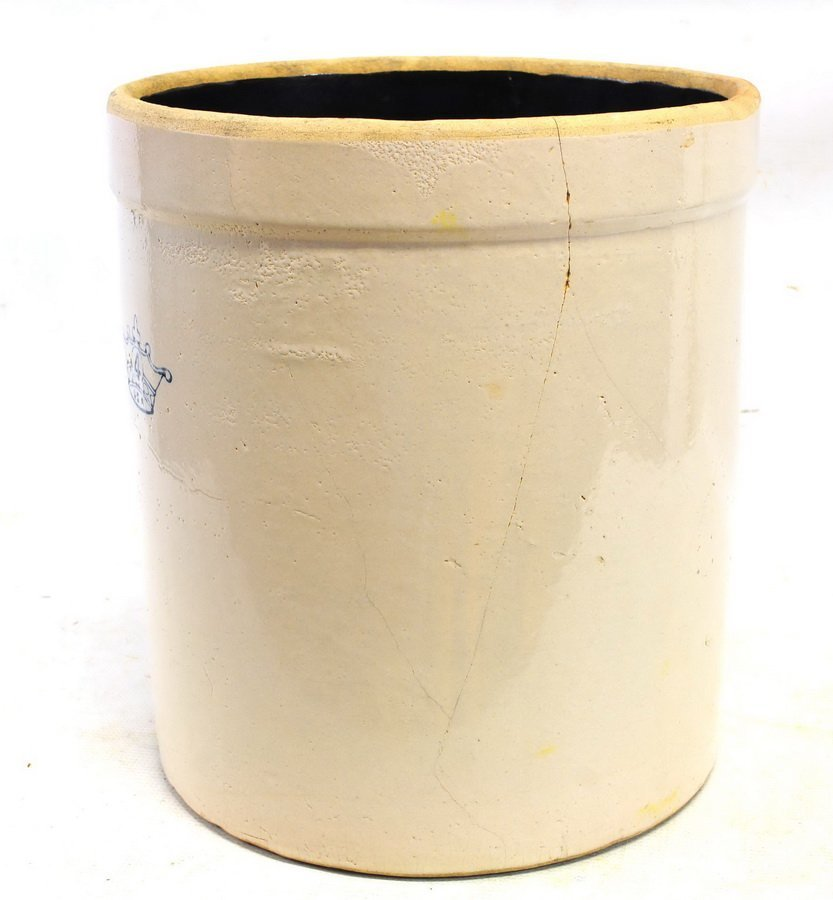 Four Antique Stoneware Crocks - 5