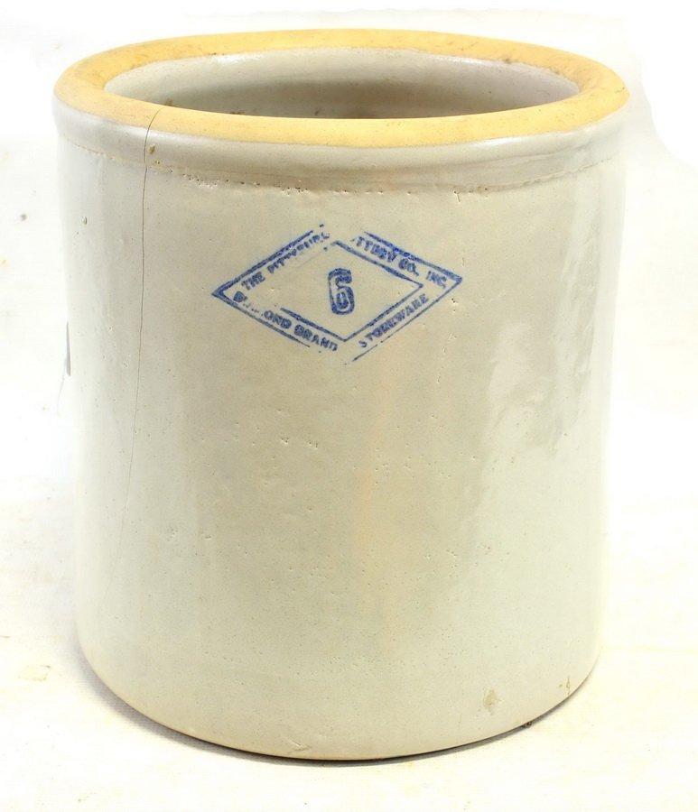 Four Antique Stoneware Crocks - 6