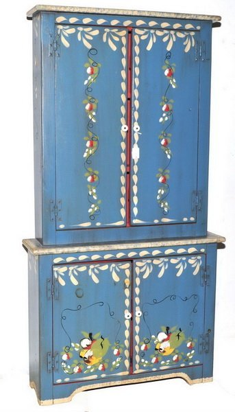 Vintage Hand Painted Child's Cabinet