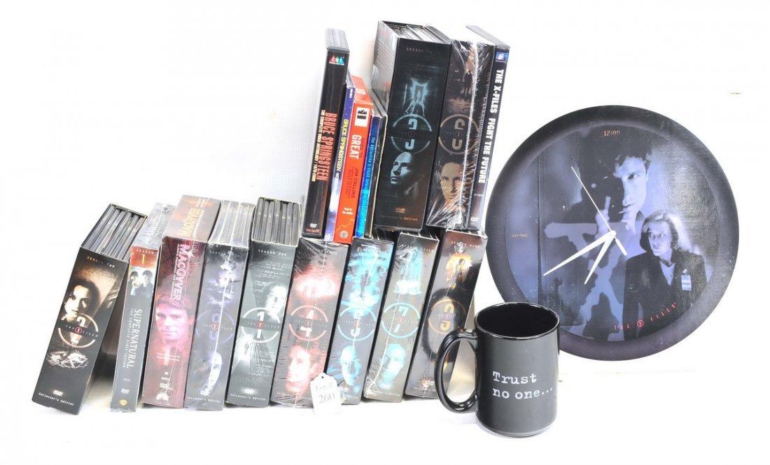 Box of Unopened X Files Movies