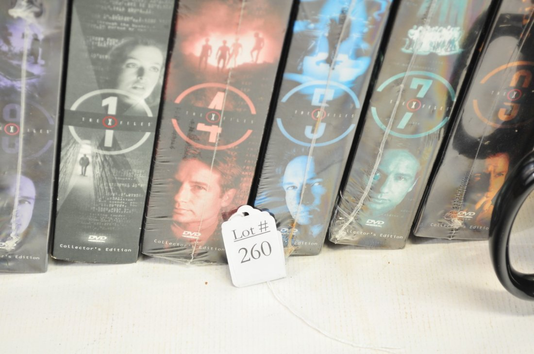 Box of Unopened X Files Movies - 2