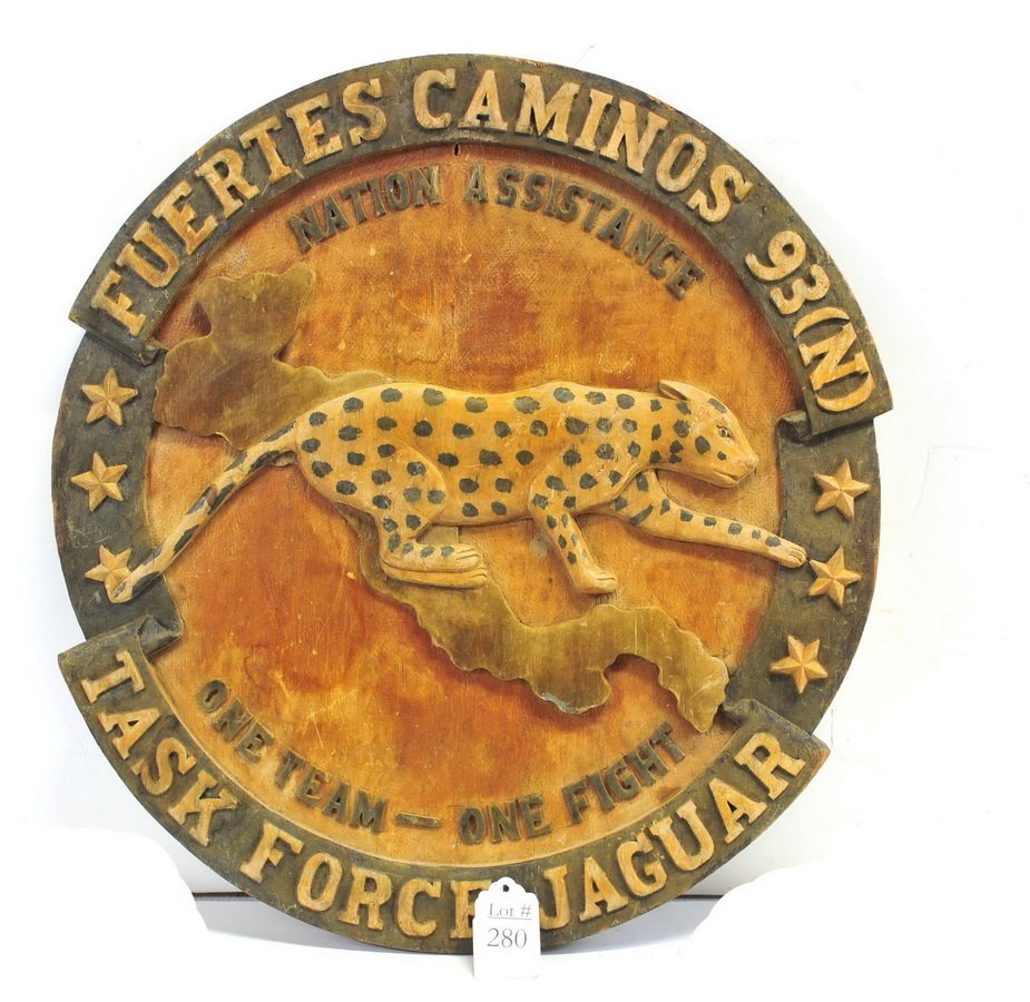 Wood Military Plaque Task Force Jaguar