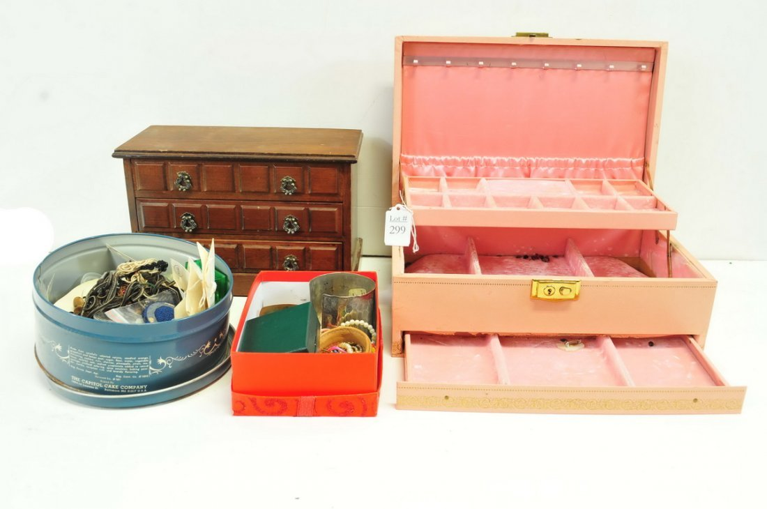 Estate Costume Jewelry/Jewelry Boxes