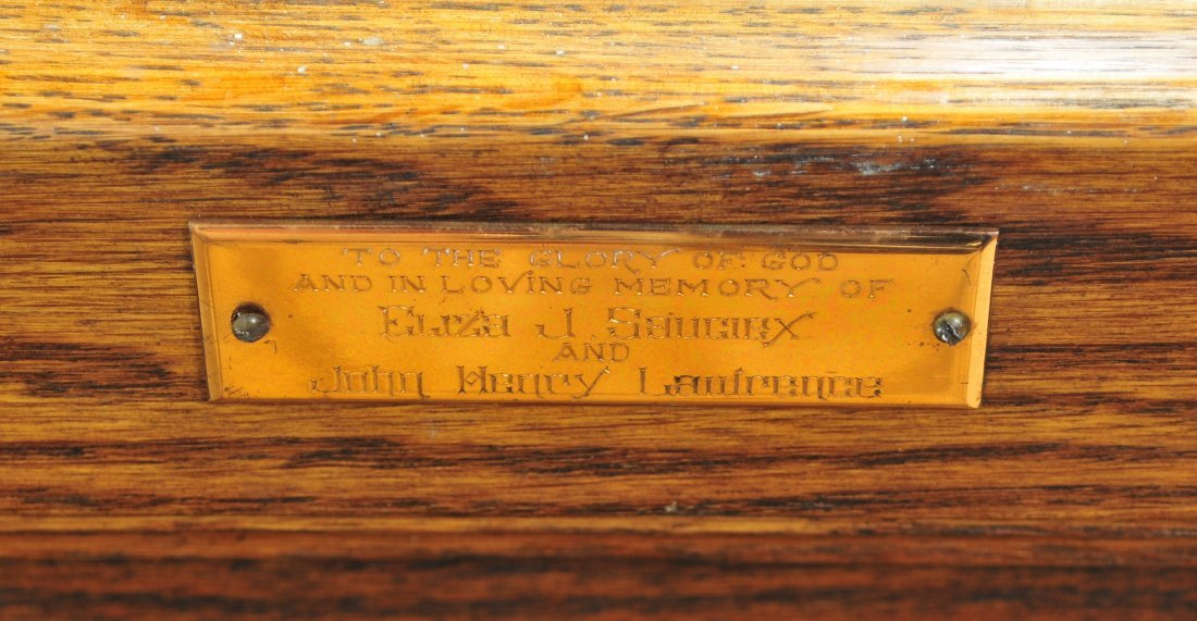 Antique Oak Church Pews Decorative - 3