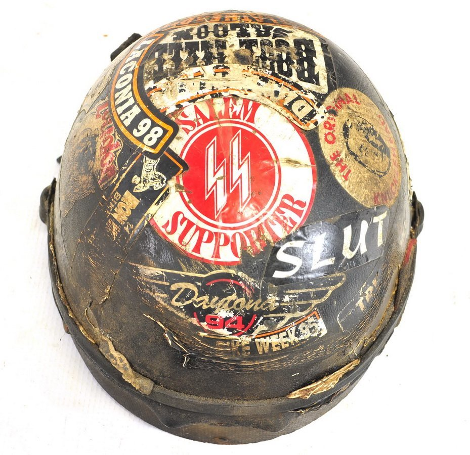Vintage Motorcycle Helmet/Trophy - 2