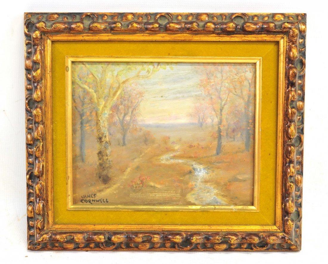 Oil Board Landscape James Cornwell