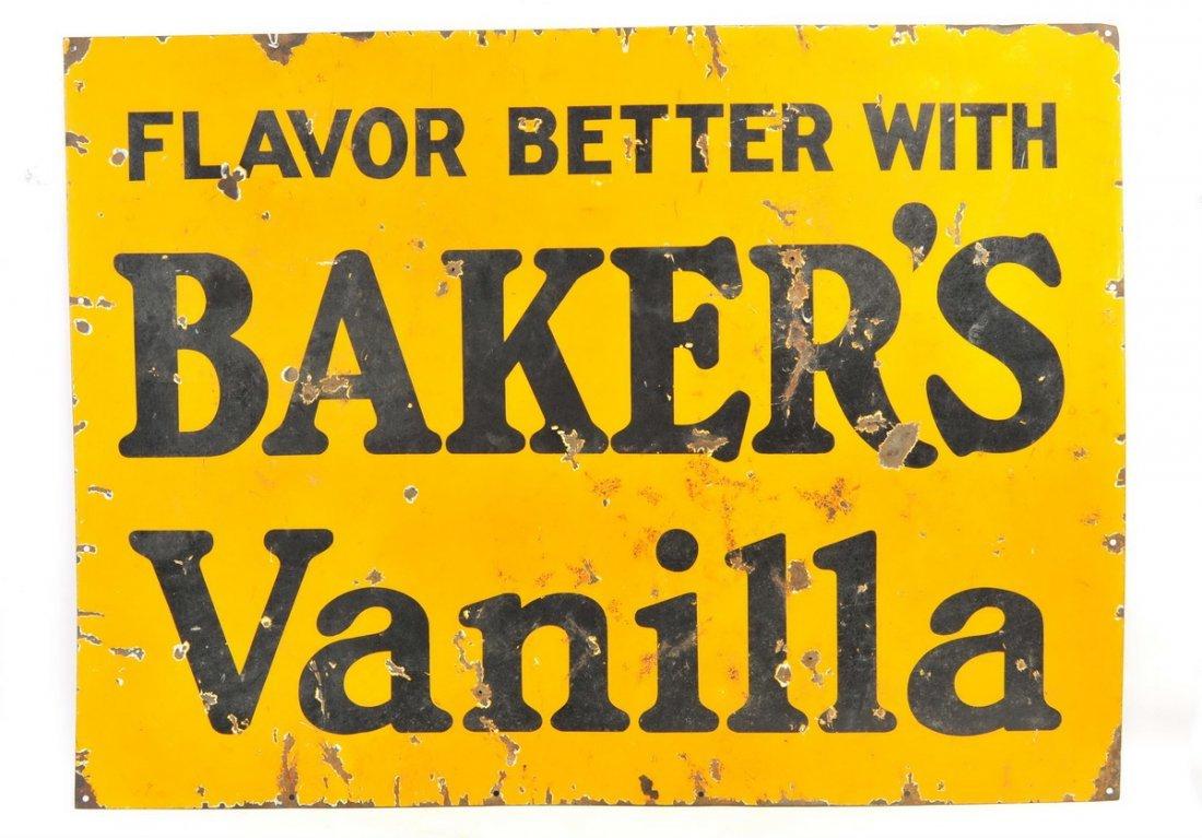 Baker Vanilla Porcelain Sign