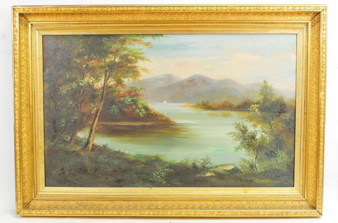 Oil Canvas Hudson River Anthony Mose