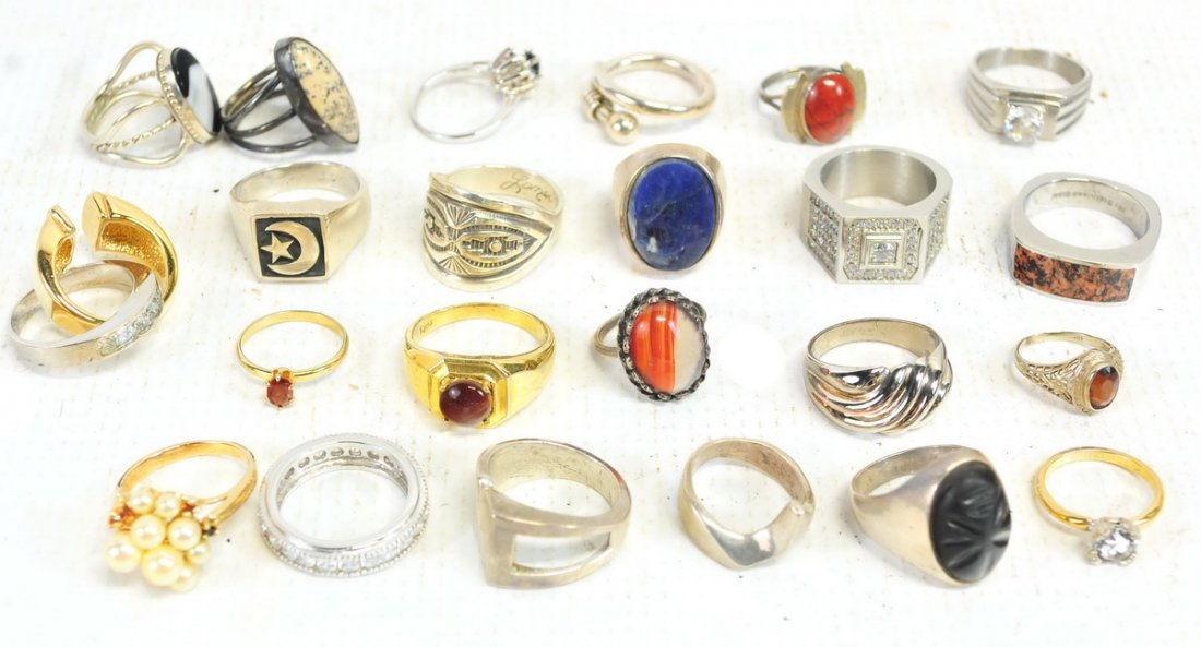 Estate Vintage Rings Sterling Costume