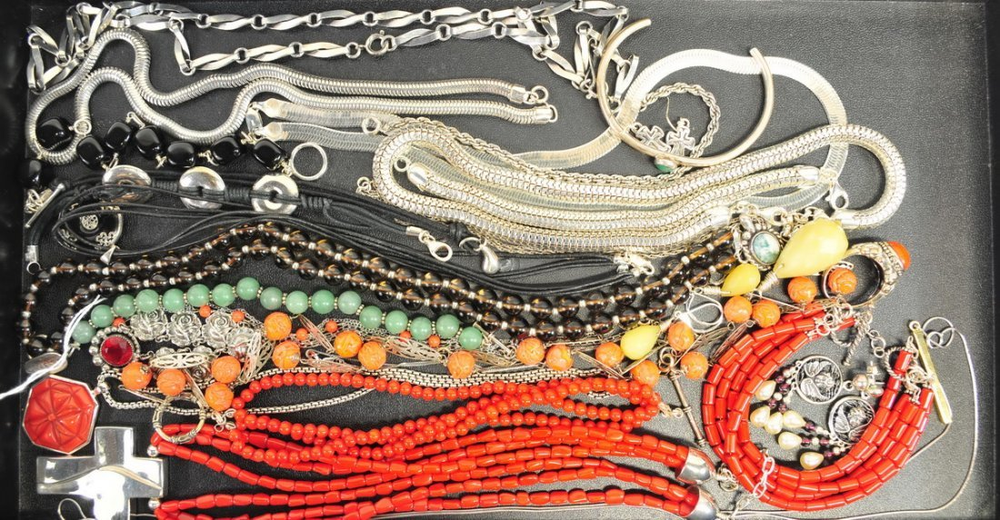 Estate Sterling Beads Necklaces