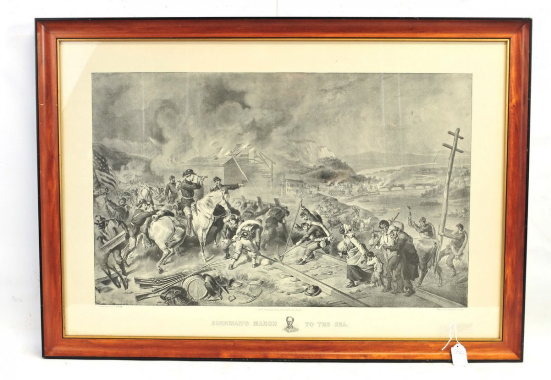 Litho Sherman's March To The Sea Civil War