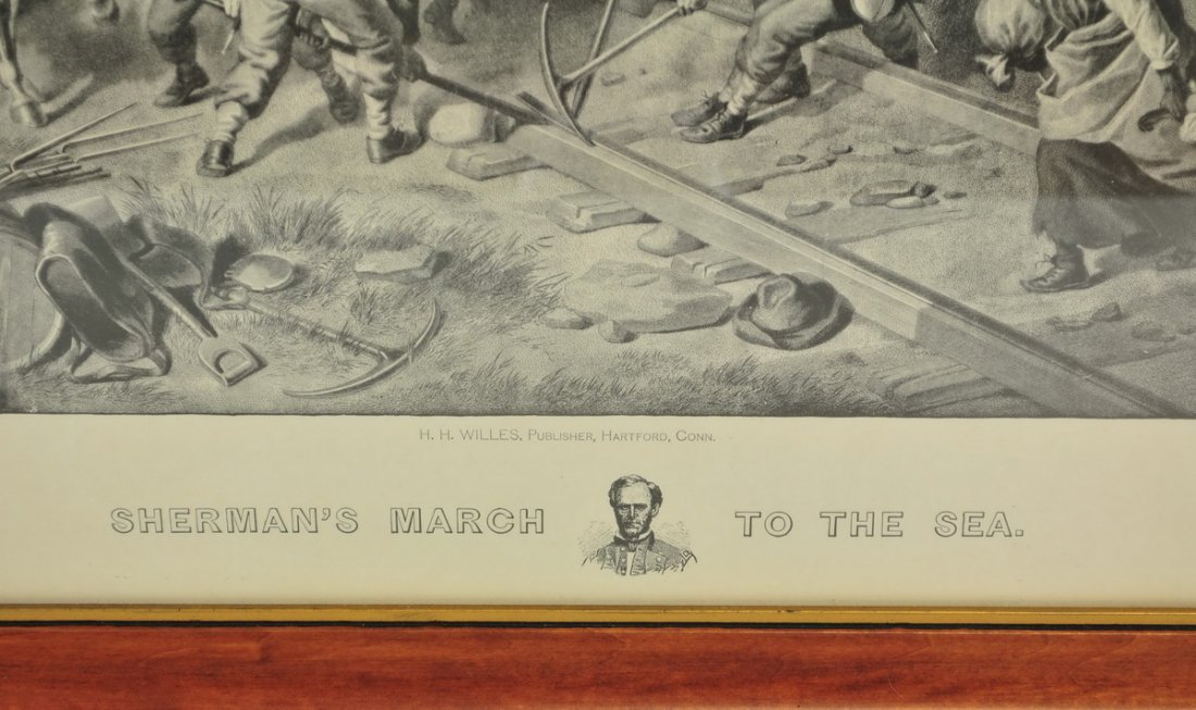 Litho Sherman's March To The Sea Civil War - 2