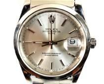 Men's 2006 Rolex Oyster Perpetual Date Watch